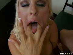 Big tit milf Holly Halston fucked hard and blasted with a huge load of jizz