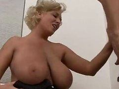 Mature Blonde With Huge Tits