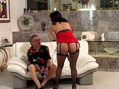 Banging MILF in Stockings Gets A Hardcore Doggy Style Fuck