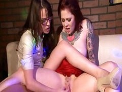 Riddled with tattoos, Misti Dawn, is a freak for hot lesbian sex