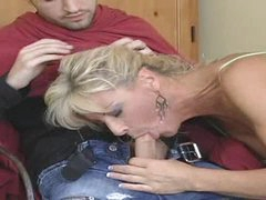 Hot Aged Cougar Cuts Hair and Gets Group-fucked