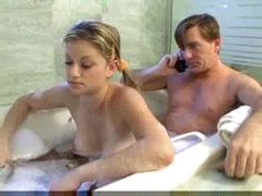 Teen Cutie and dad have fun in the baths