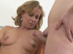 Pretty Hot Mommy With Young Guy