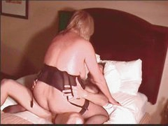 Hot Blond Granny Cougar Squirts