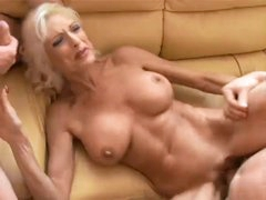 Hot Mature Golden-haired Cougar Jordan Threeway