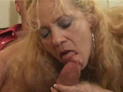 horny mature blonde fucked by young lad