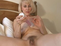 Sweet Mamma Hazel May Plays With Her Hairy Slit
