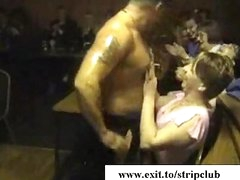 drunk wives attacking rods in stripper bar