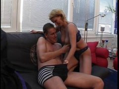 Blond mature honey poles ass