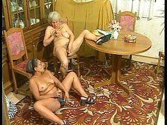 Horny granny gets hard fucked from behind