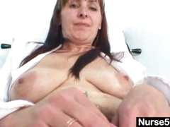 Mature mama karin shows off hairy snatch extreme