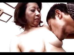 Mature Woman Getting Her Nipples Sucked Pussy Rubbed Fingered By Young Guy On The Bed