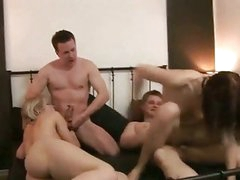 Excited czech couples in a hardcore swingers party