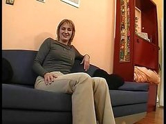 Blond milf in hot video