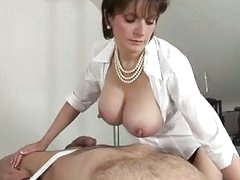 Domme going russian as she titfucks her ...
