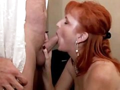 Redhead MILF can't live without a dong in her mouth and in her wet pussy