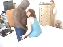 This gal takes her time sucking and fucking this hard dark cock