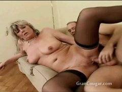 Old granny acquires her pussy fucked in multiple positions