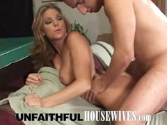 Lewd housewife wazoo drilled by nasty hunk neighbor