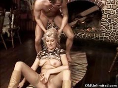 Horny mature mom receives fucked and engulfing part3