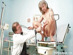 Mature Alena gyno twat real clinic examination