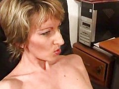 Mature Estelle lets you see her mommy pussy