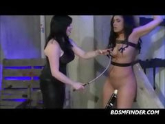 Bound Whipped And Toyed Lesbian