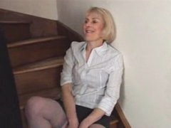 Hazel May Stairway Masturbation
