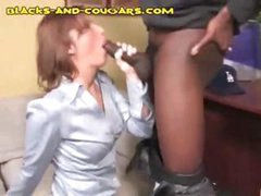 MILF blonde professor gets a black cock to ride and slurp on