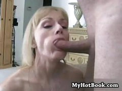 Mature blonde housewife Melanie still has the body and the talents