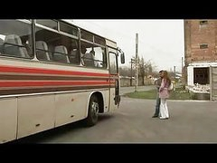 Crazy couple copulating in a bus