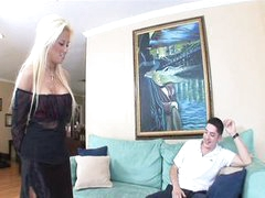Perverted Blonde MILF loves a Young Boner