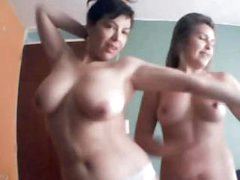 Awesome females demonstrating their chubby tits on their webcam