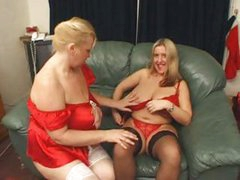 BBW Marie Louise and Samantha indulge in some lesbian pussy fun