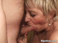 Some nasty blonde milf got fucked