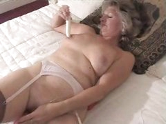 Adorable Granny In Fully Fashioned Nylon Stockings