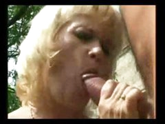Granny MILF gets some hot outdoor action with a young stud