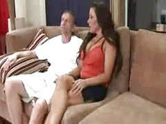 Mommy got boobs caught between a cock and a hard case (2009