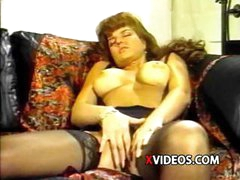 Erotic jumper with an inedible fillet gets bonked in her black lingerie