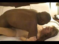 Mature white wife takes a pounding from his big black boner