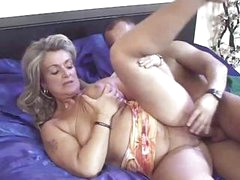 Mature German blonde trades head and then gets her pussy nailed