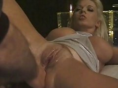 Sexy blonde milf gets her shaved snatch licked and drilled