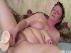 Mature Lady Plays With Her Boy Toy