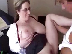 Today is this mommy`s last day as teacher, so she decides to fuck her student