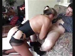 Mommy In Nylons Gets Her Pussy Licked