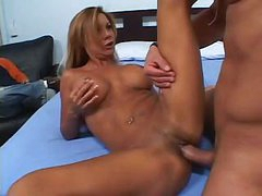 Sexy MILF Demi Delia sits on that cock and rides it like a horse