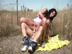 Horny MILF gets fucked hard outdoor free part4