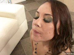 Sexy milf Kristina Rose enjoys a cockramming and cum shower