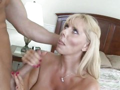 Voluptuous Samantha Silver enjoys a hard pussy fucking